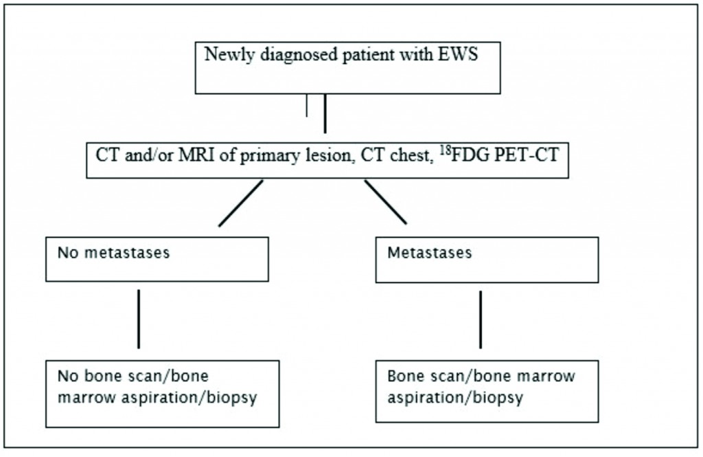 Figure 1: Investigation Workflow for a newly diagnosed Patient with EWS